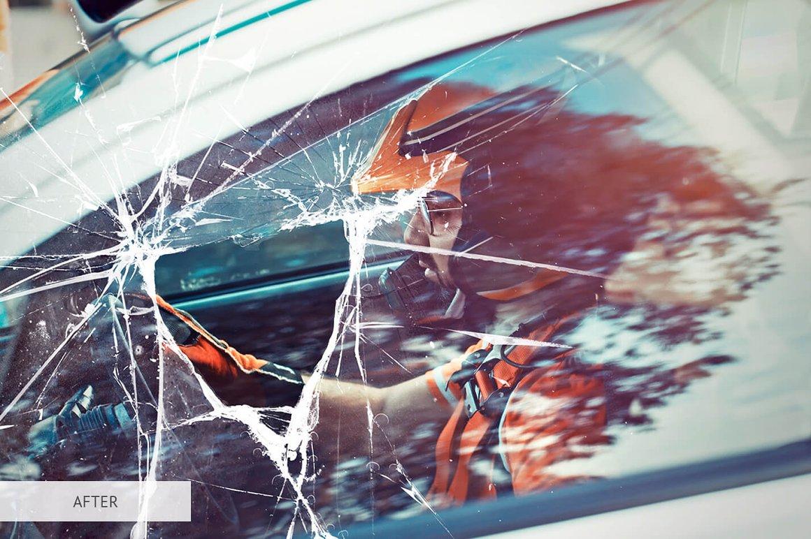 اکشن فتوشاپ شیشه شکسته