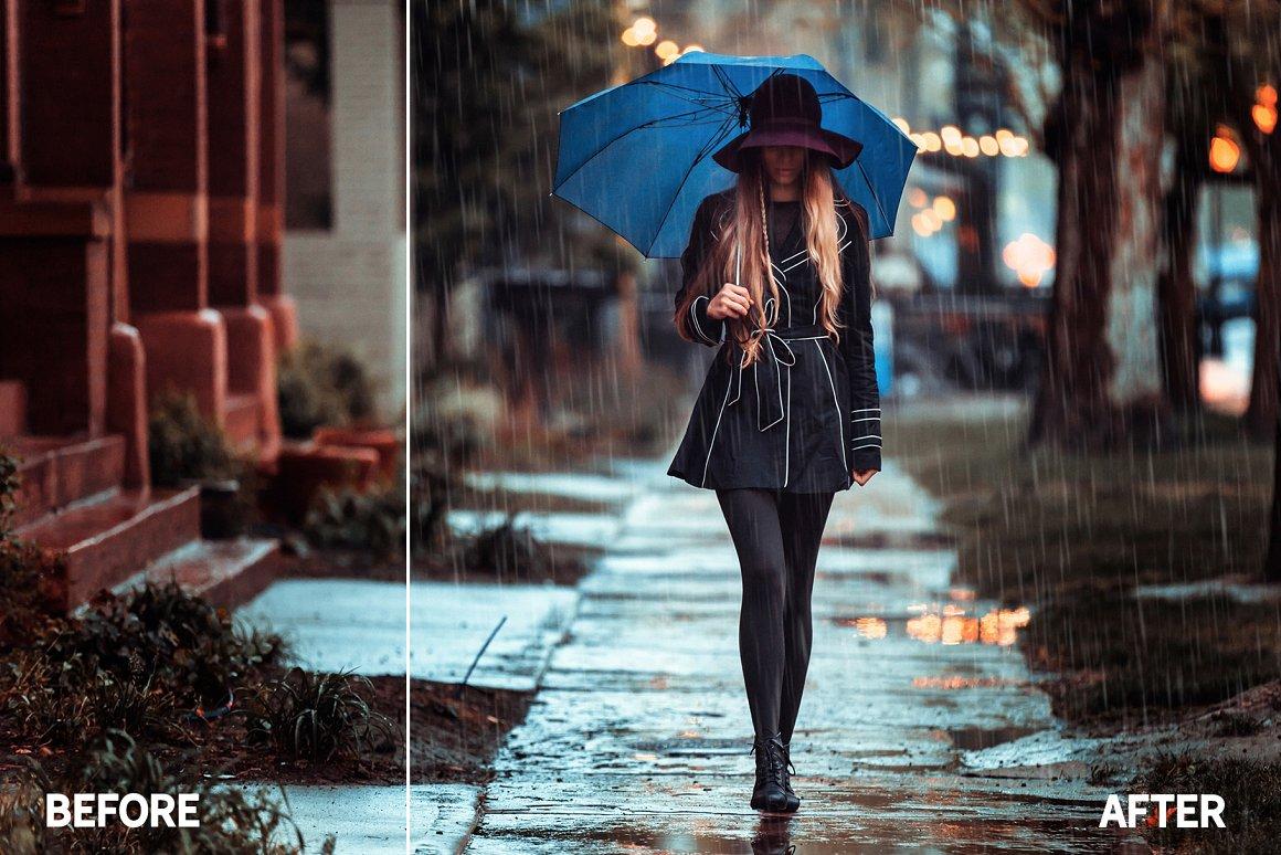 اکشن افکت باران