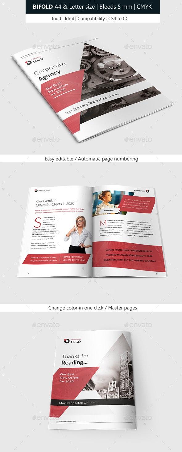 قالب ایندیزاین بروشور Bifold Brochure Corporate Indesign Template