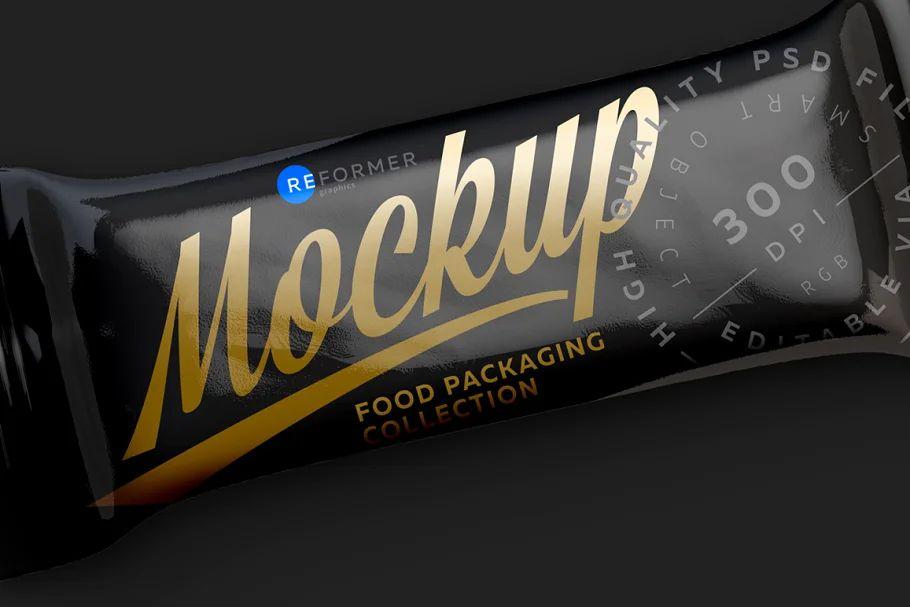 موکاپ بسته بندی شکلات Black Glossy