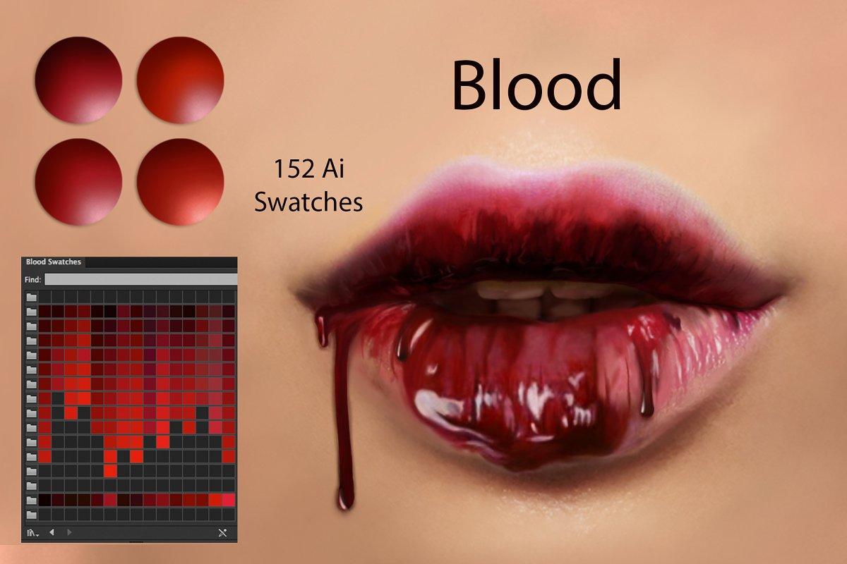 پالت رنگ Blood Ps Swatches