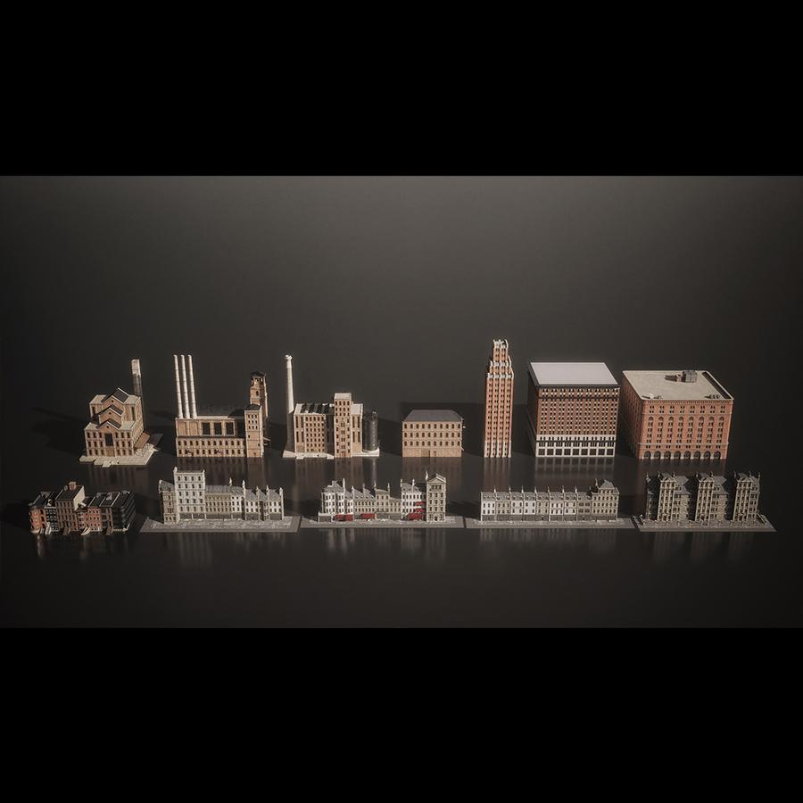 دانلود آبجکت ساختمان دهکده از Kitbash3D