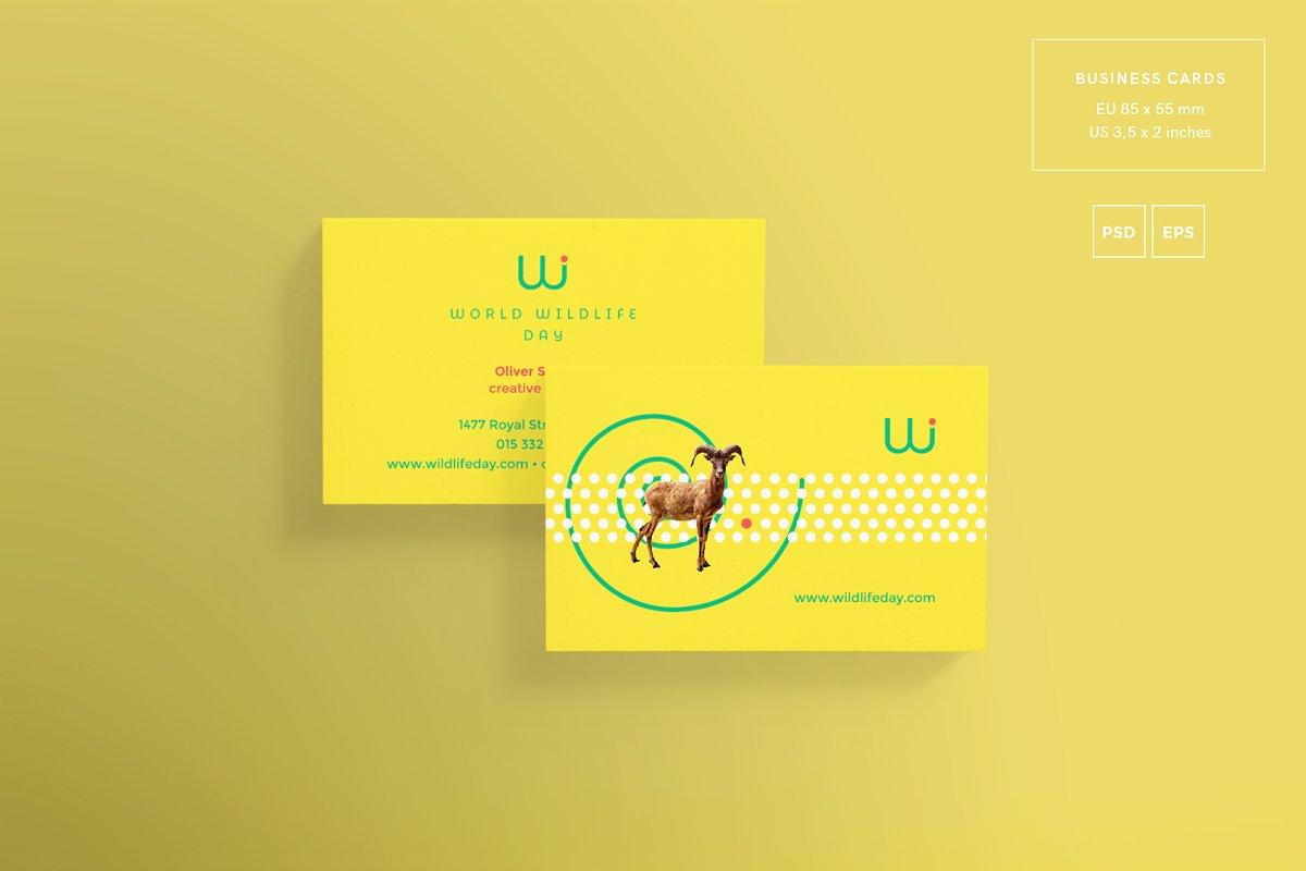 فایل لایه باز ست اداری Branding Pack | World Wildlife Day