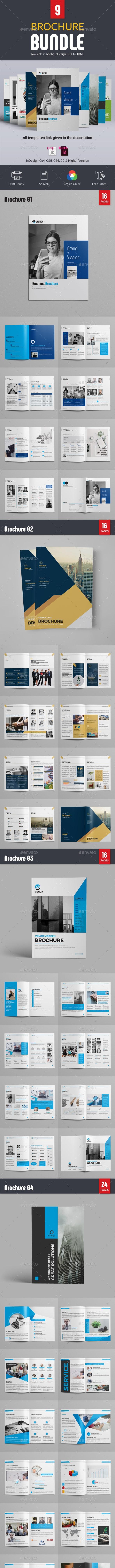 قالب ایندیزاین بروشور Brochure Bundle