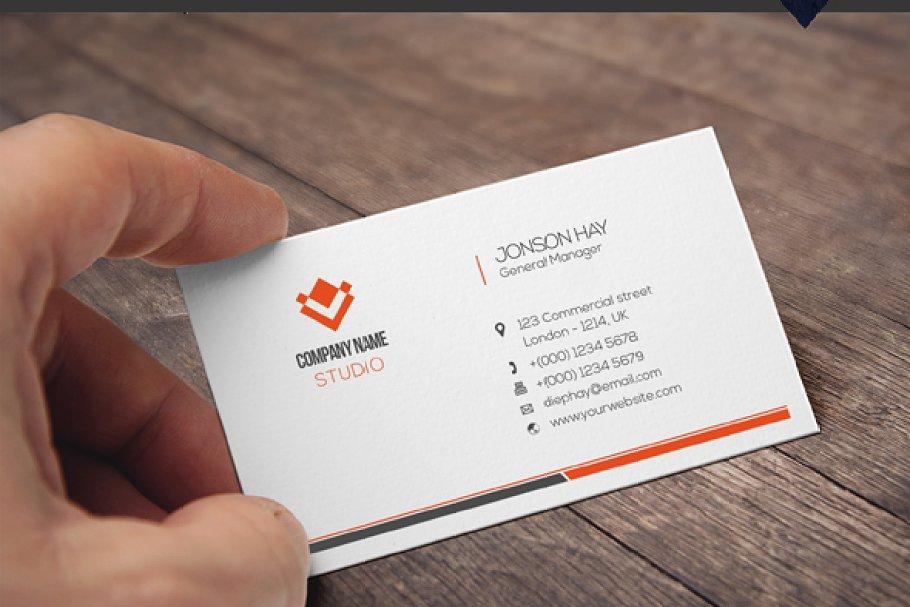 فایل لایه باز کارت ویزیت Business Card Template