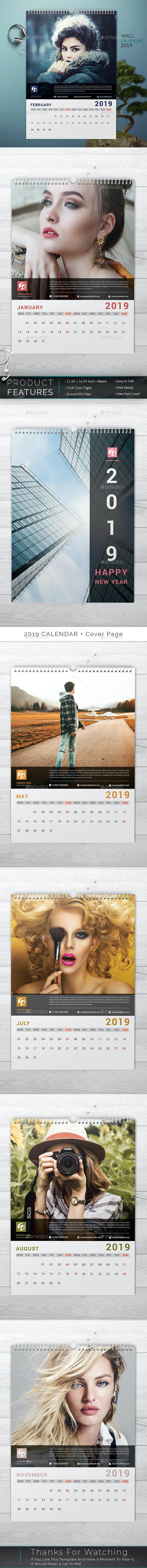 وکتور تقویم میلادی Calendar