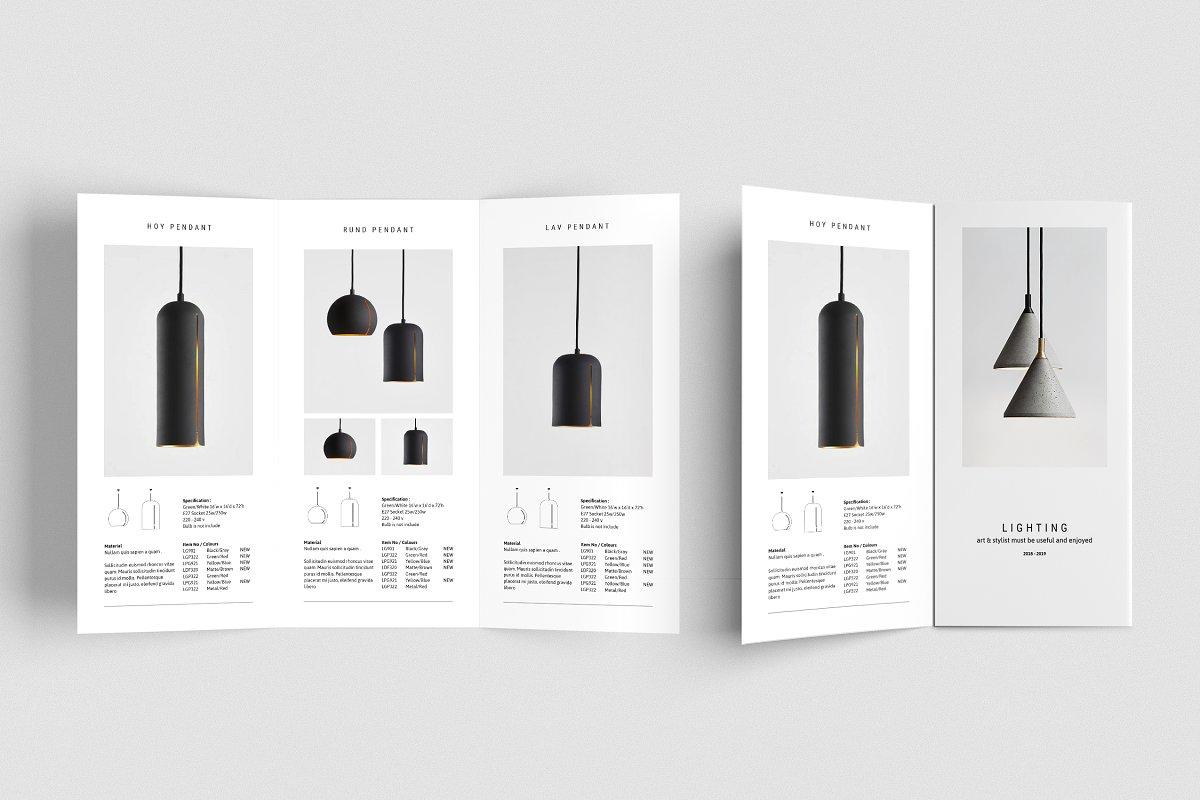 قالب ایندیزاین بروشور C E N T R E – Trifold Brochure