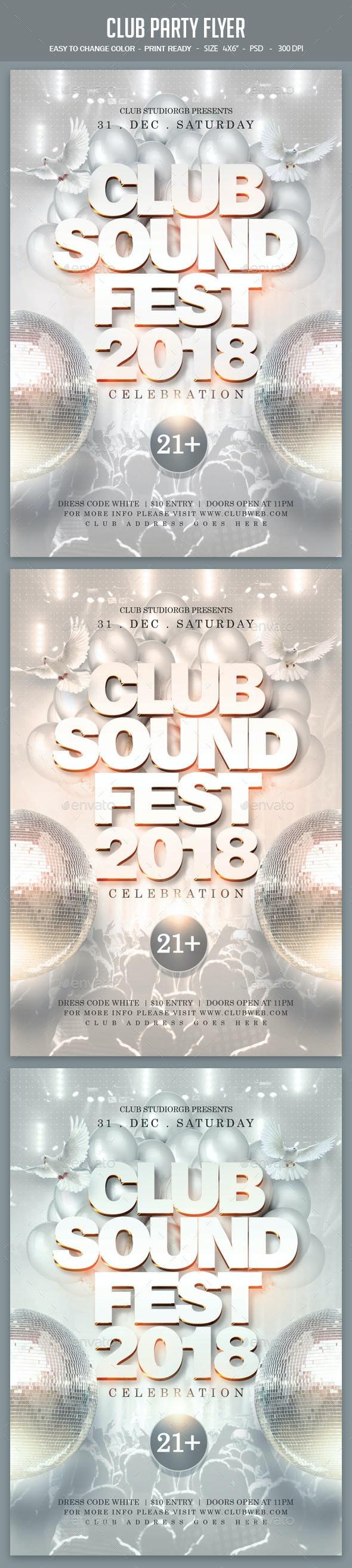 فایل لایه باز بنر Club Party Flyer