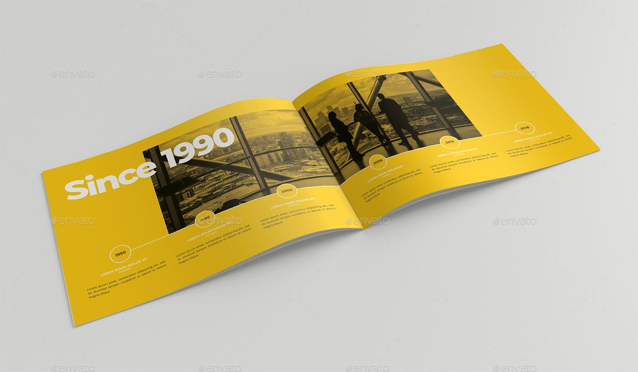 قالب ایندیزاین بروشور شرکت معماری منظر