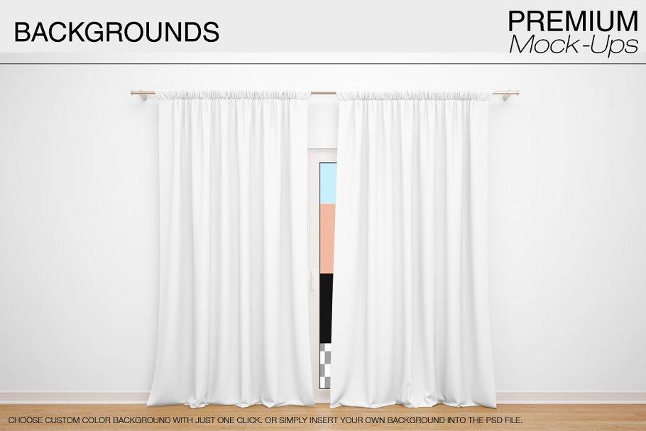 موکاپ پرده Curtains Mockup 3