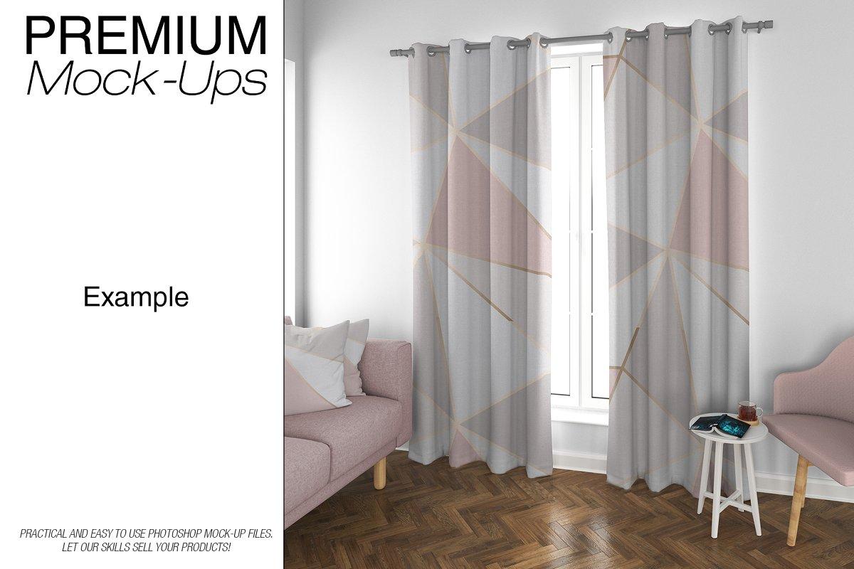 موکاپ پرده Curtains Mockup Set 5