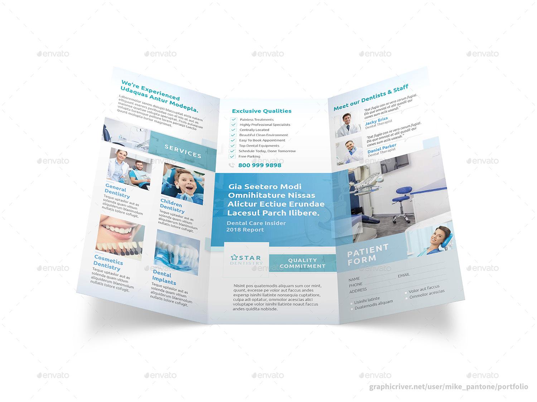 فایل لایه باز بروشور کلینیک دندانپزشکی