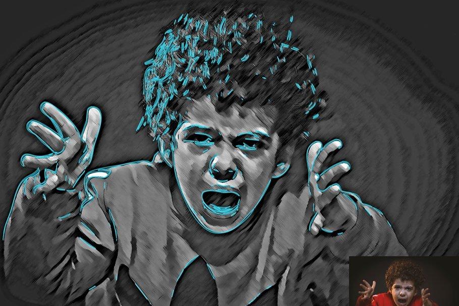 اکشن تبدیل عکس به نقاشی دیجیتال