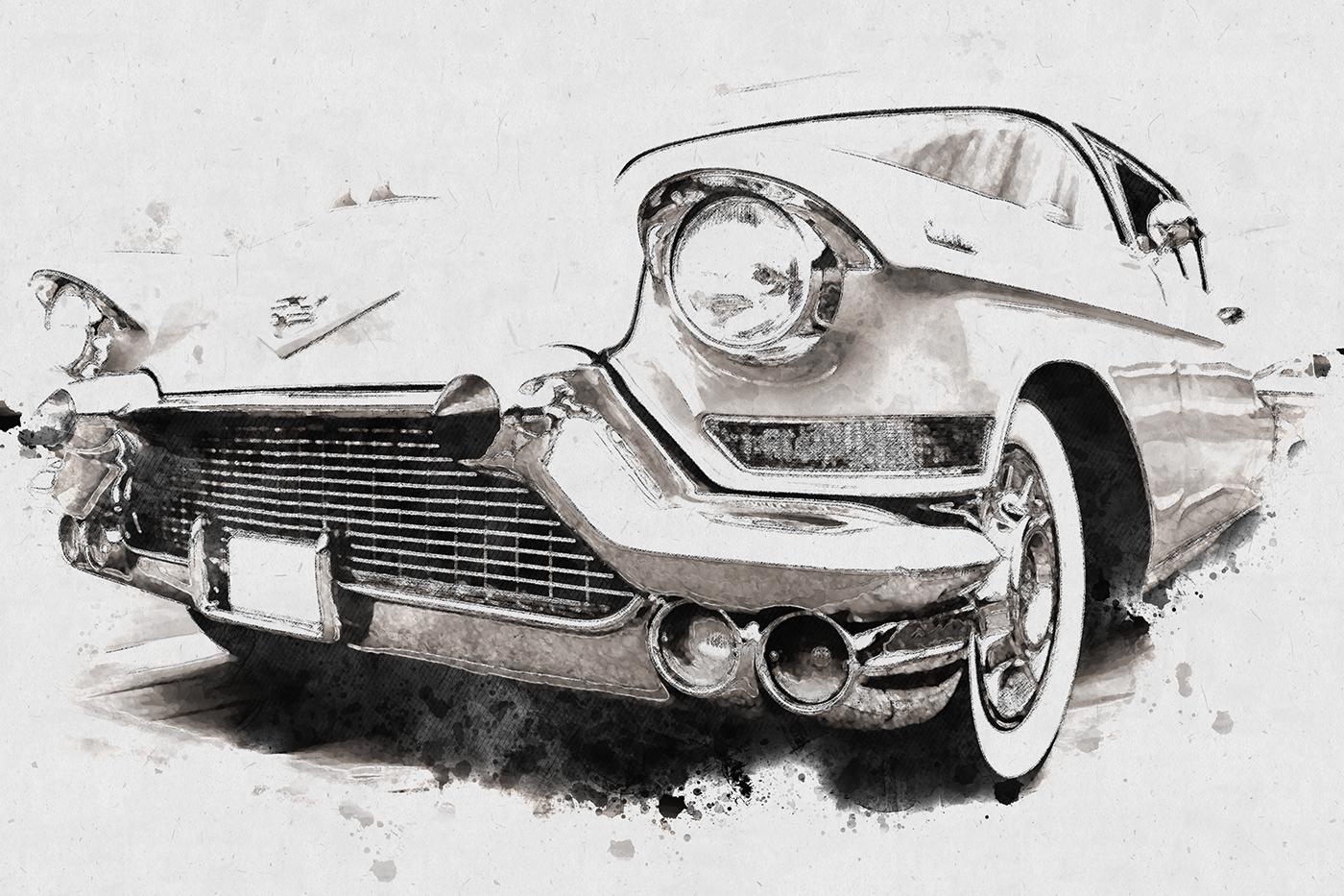 اکشن تبدیل عکس به نقاشی Fast Acrylic Sketch