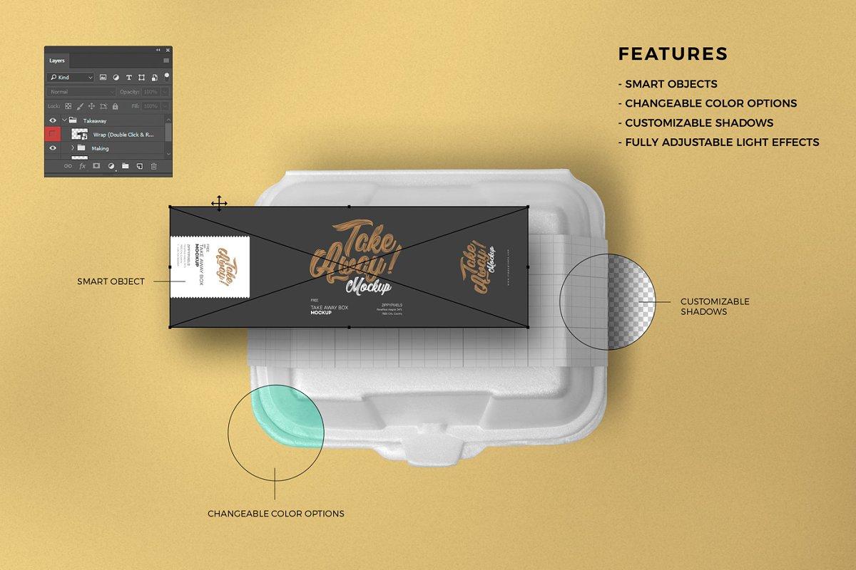 موکاپ بسته بندی مواد غذایی Food Packaging Mockups Bundle