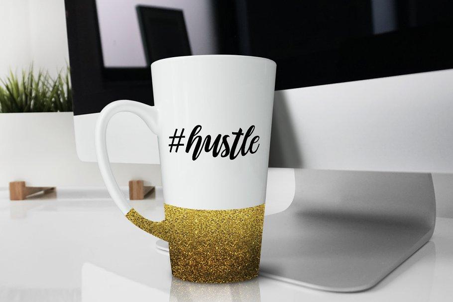 موکاپ ماگ Glitter Latte Mug Product Mock up