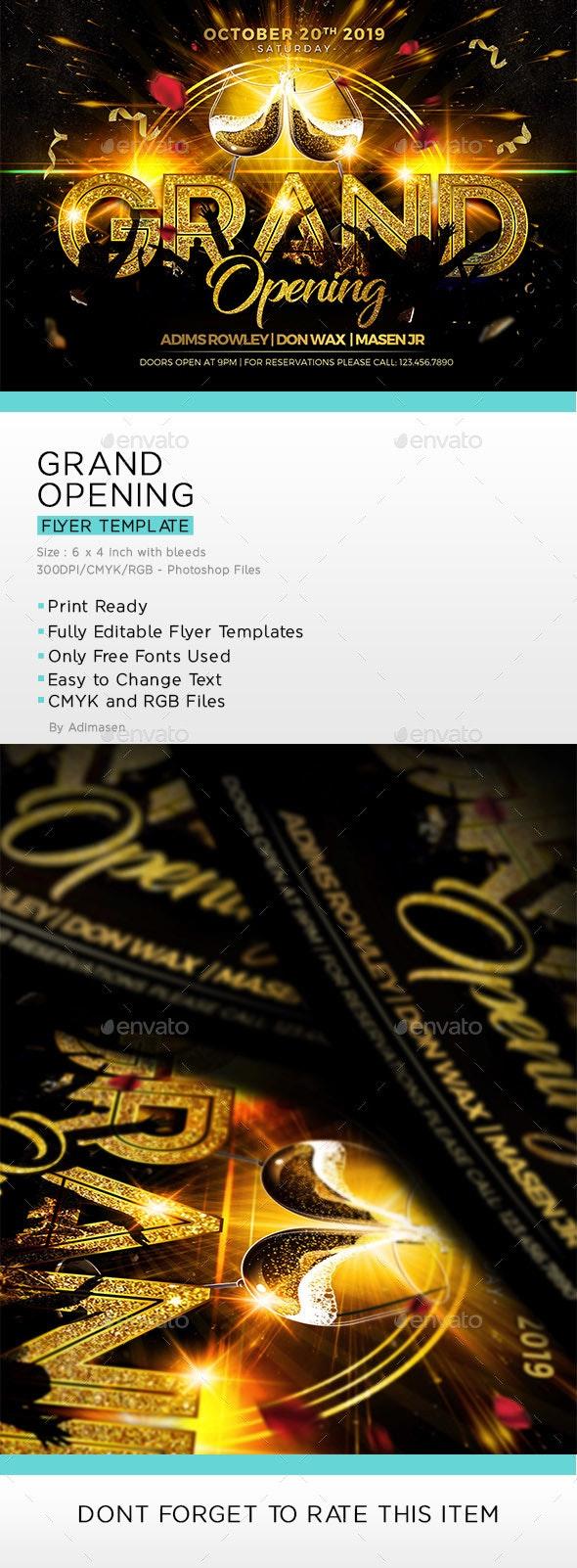 فایل لایه باز بنر Grand Opening Flyer