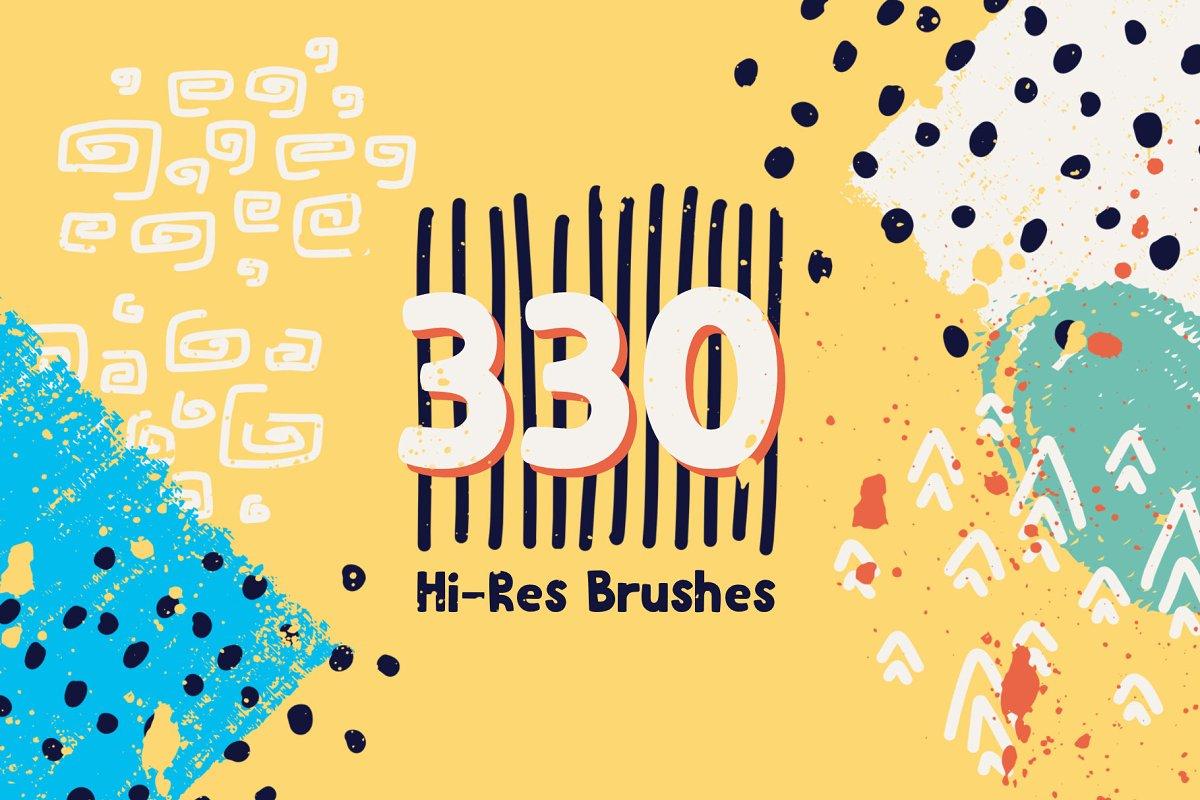 براش Graphic Beats: Brushes for ProCreate