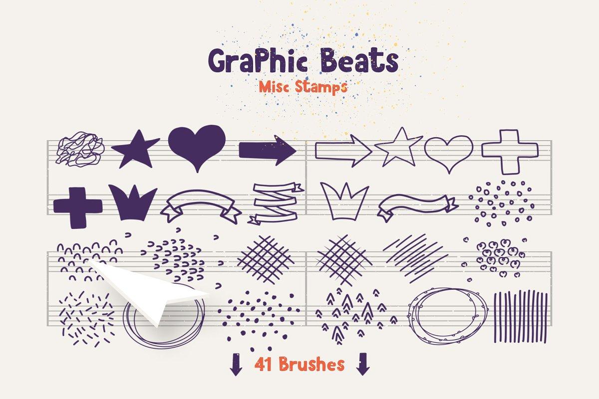 براش ایلوستریتور Graphic Beats: Illustrator Brushes