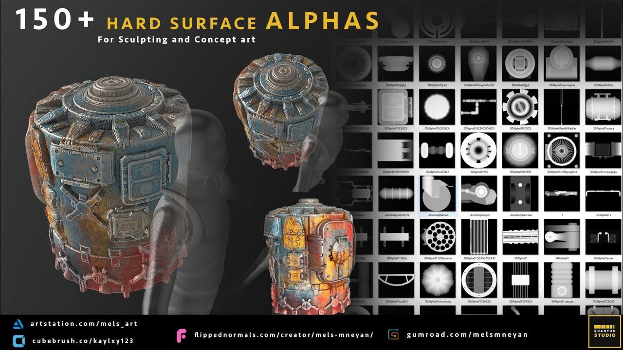 تصویر آلفا برای مدلسازی سطوح سخت