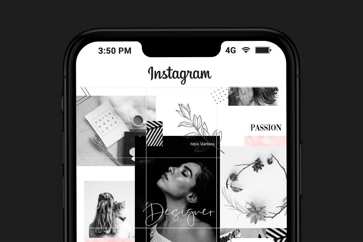 فایل لایه باز پست پازلی اینستاگرام Instagram Puzzle