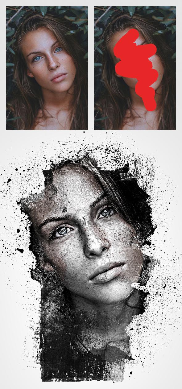 اکشن فتوشاپ ایجاد عکس قدیمی