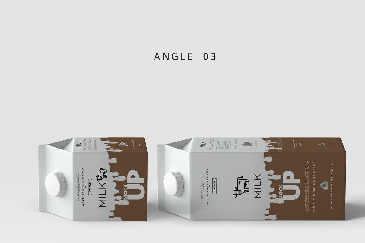 موکاپ پاکت شیر Milk