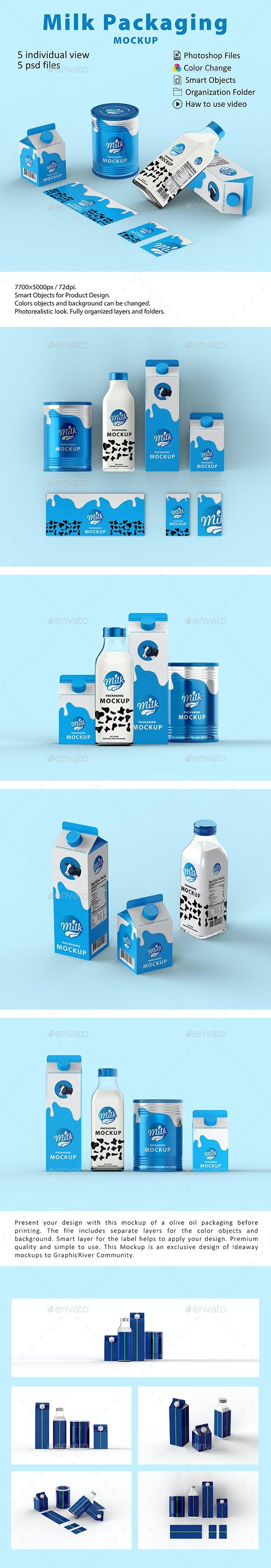موکاپ پاکت شیر