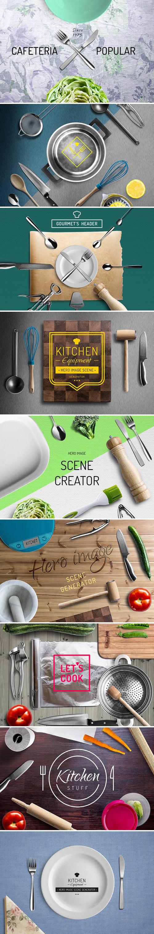 دانلود موکاپ وسایل آشپزخانه Mockup kitchen items