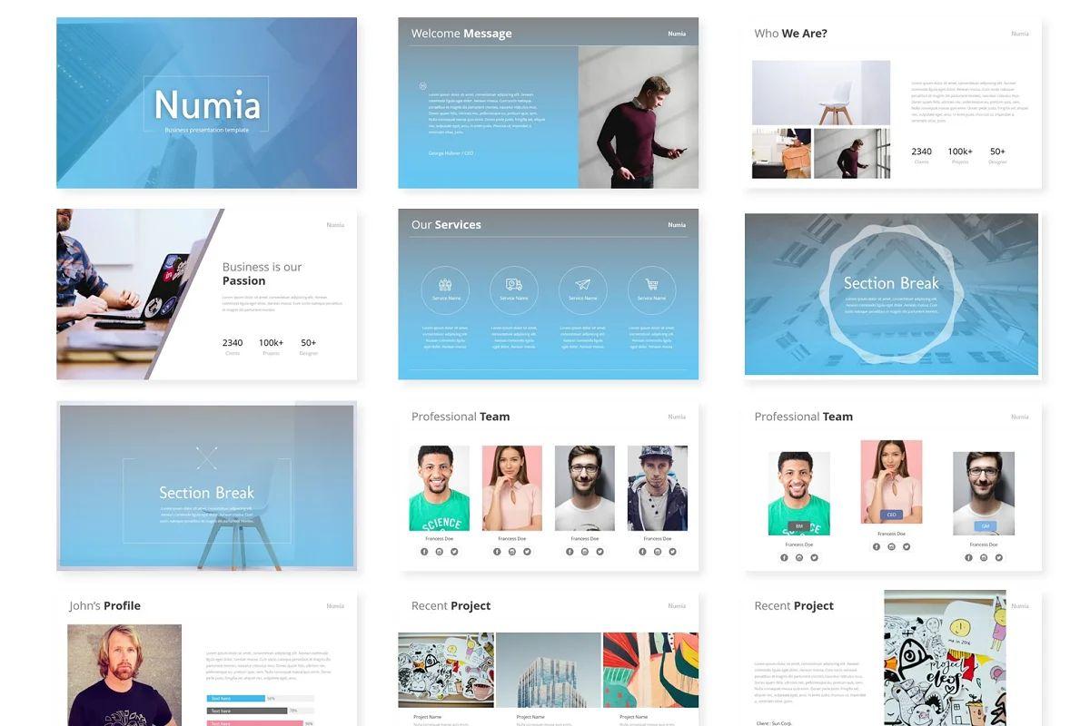 قالب پاورپوینت Numia – Powerpoint Template