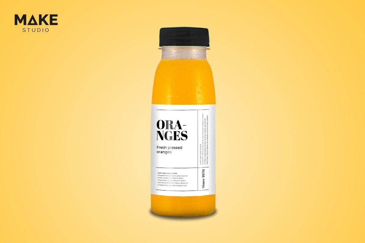 موکاپ بطری آب پرتغال