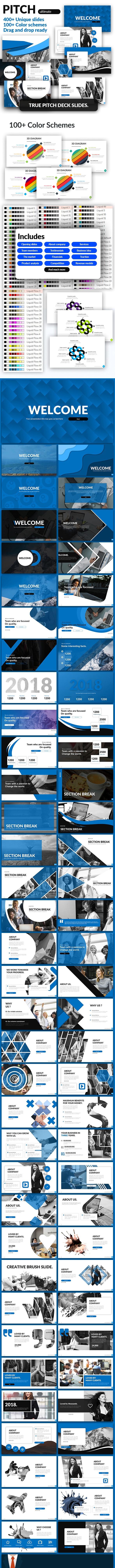 قالب پاورپوینت Pitch Deck Presentation Template – Pitch Ultimate