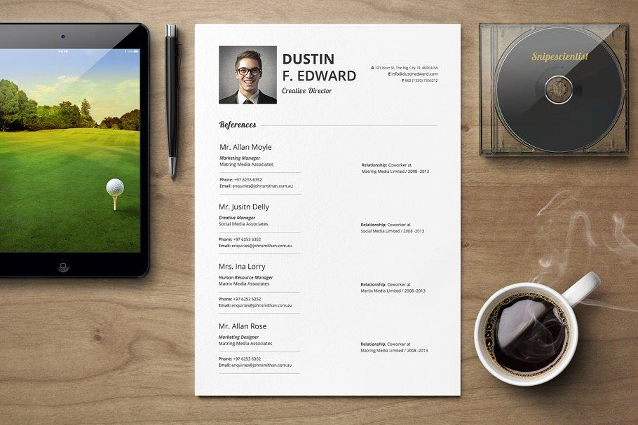 قالب آماده ایندیزاین رزومه Premium Resume CV Template Set