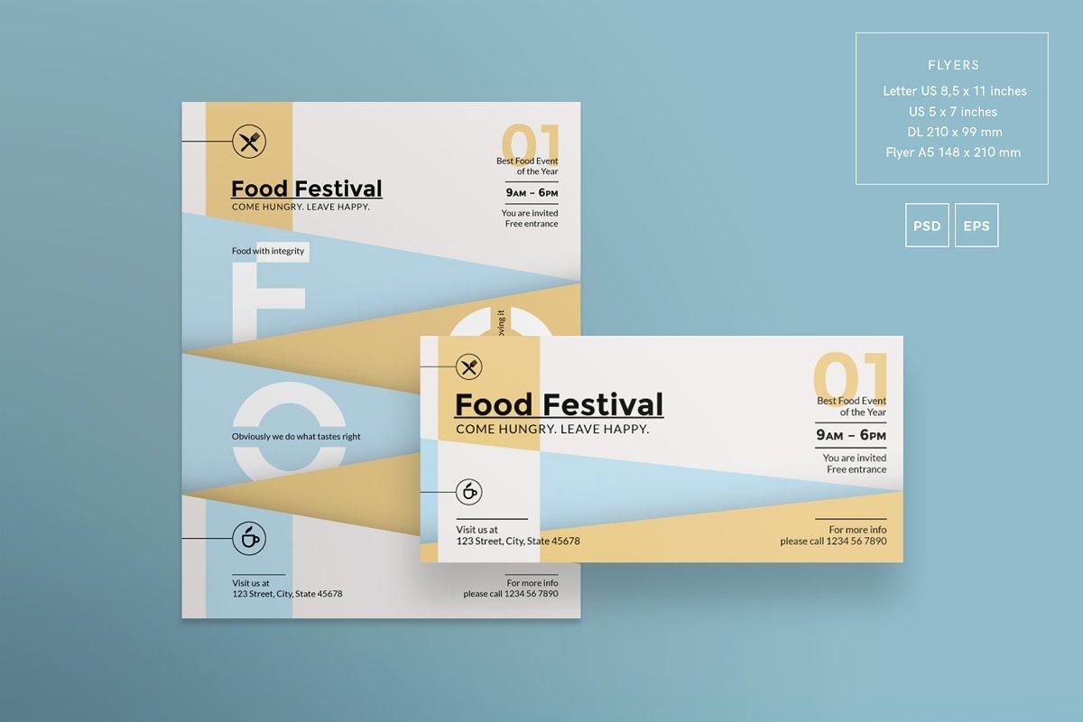 فایل لایه باز آگهی جشنواره غذا