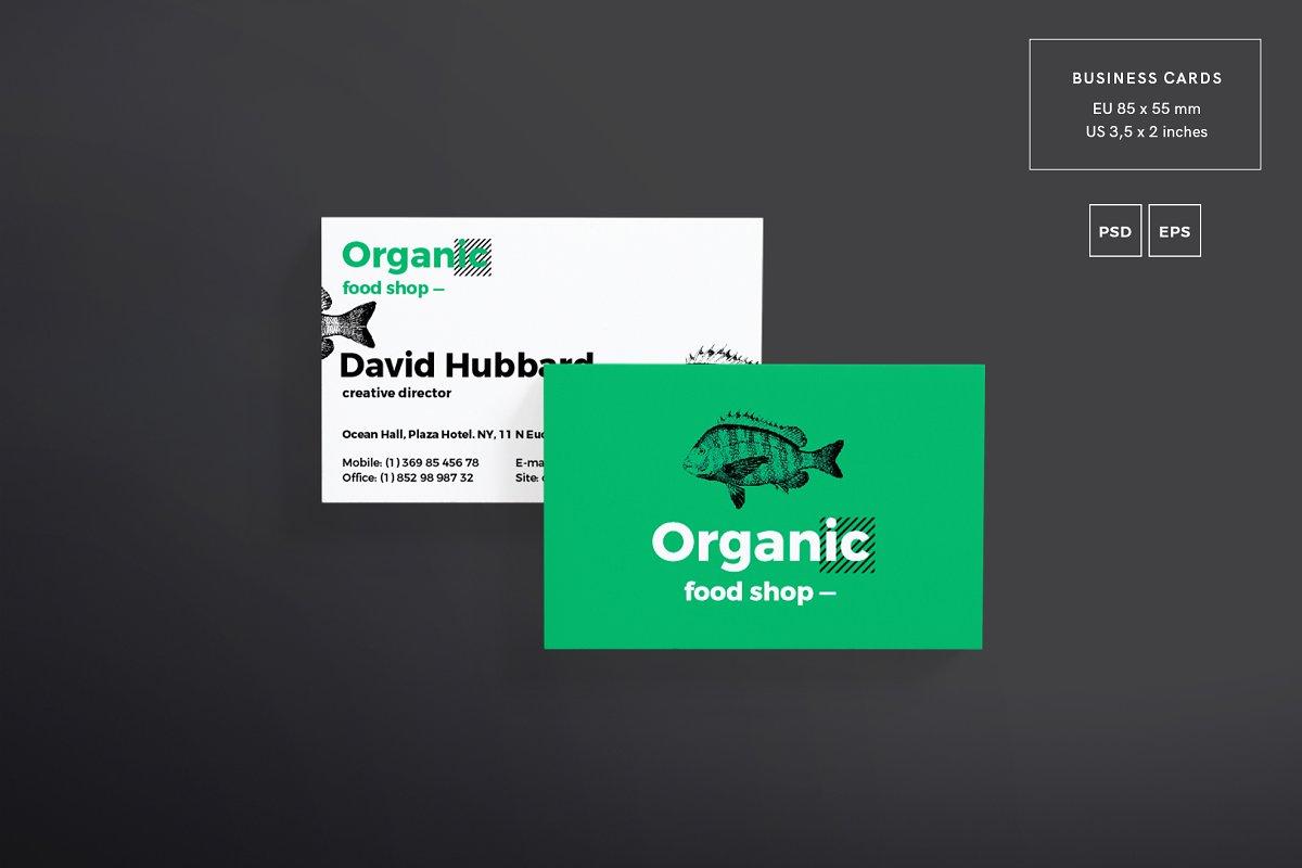 فایل لایه باز آگهی فروشگاه مواد غذایی ارگانیک