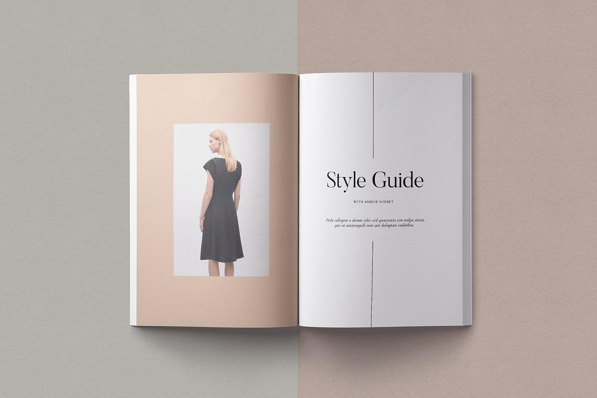 قالب ایندیزاین ژورنال لباس