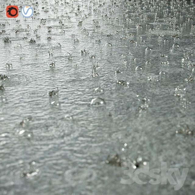 مدل سه بعدی قطره آب