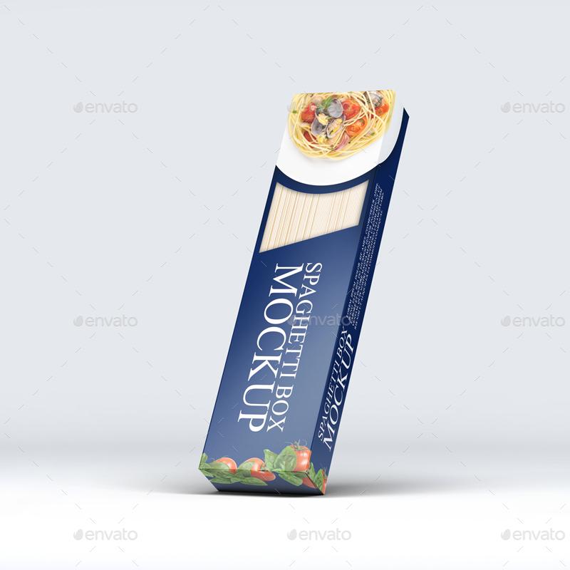 موکاپ بسته بندی اسپاگتی