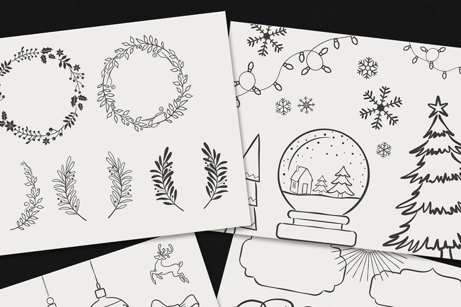 وکتور کریسمس Vector Christmas Elements